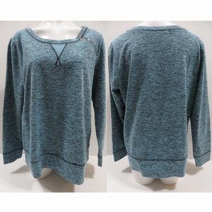 Lane Bryant sweatshirt 14/16 marl zipper shoulder